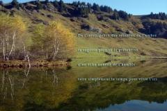 Lac de Joux-Plane, Haute-Savoie. Poème ˆà l'humilitéŽ.