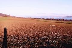 Lac de Neuchâ‰tel, au-dessus d'Yverdon. Poème àˆ la Terre.