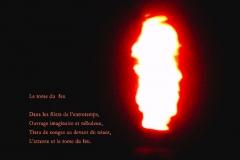 Flamme de la rafinerie de Monthey, canton du Valais. Poème àˆ l'inspiration.